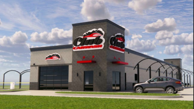 A rendering of the new Club Car Wash to be built along Sixth Street in Springfield.