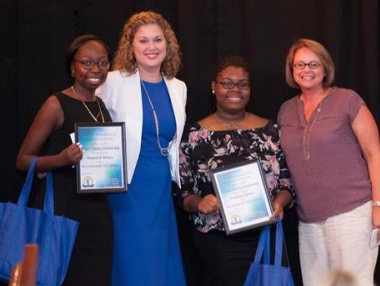 Destinee Jones and Shamiah Roney were recent recipients