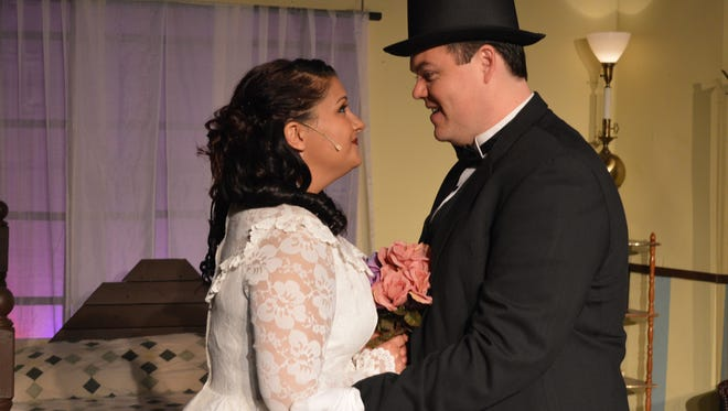 """Lauren Rachel stars as Agnes and Adam Womack plays Michael in """"I Do!"""" I Do!"""" on stage through Nov. 12 at the Camarillo Skyway Playhouse."""