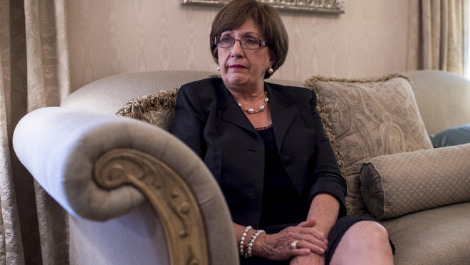 Former Louisiana Governor Kathleen Blanco reflects on her time in office during an interview at her home in Lafayette, LA, Wednesday, Aug. 12, 2015.