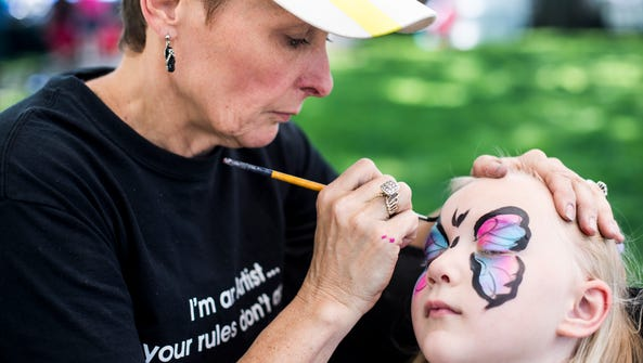 Getting your face painted is one of the main attractions
