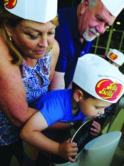 At smell stations, guests will try identifying Jelly Belly flavors using just their sense of smell.
