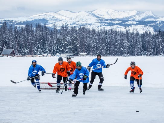 The Seeley Lake Pond Hockey Tournament hosts more than