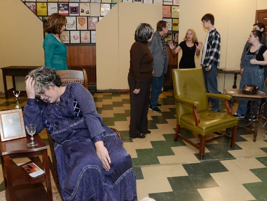 The Masquers' crew performing a dress rehearsal of