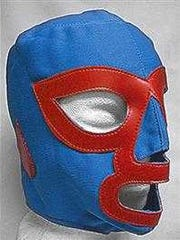 A luchador (Mexican wrestler's) mask like the one worn
