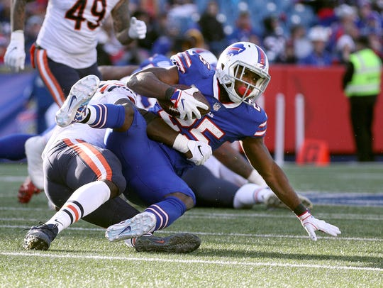 Bills running back LeSean McCoy was shut down by the