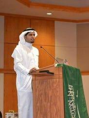 In this 2015 photo, Ali Alnasser speaks in Maucker
