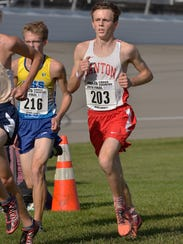 Sprinting for the finish line Saturday is Canton senior