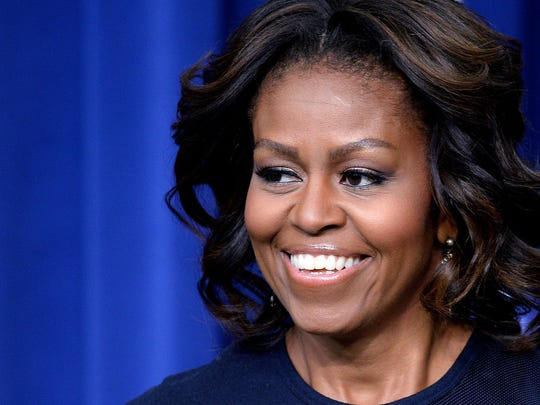 First Lady Michelle Obama speaks at an event on expanding college opportunity.