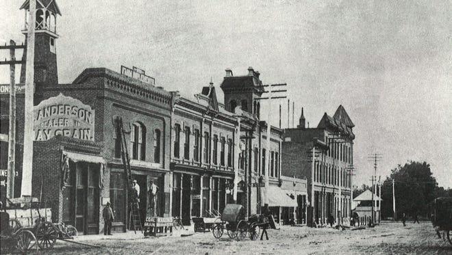 Walnut Street is pictured circa 1900.