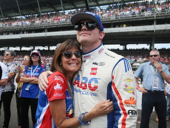 Conor Daly, who drives the No. 4 ABC Supply Co. Chevrolet