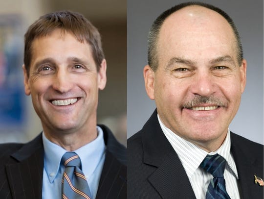 Jim Reed (left) hopes to represent Minnesota's District