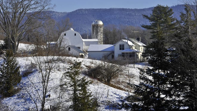 The Last Resort Farm in Monkton garnered a state award for environmental excellence earlier this year for steps it has taken to reduce the effects of erosion and manure run-off. Photographed Jan. 22, 2015.