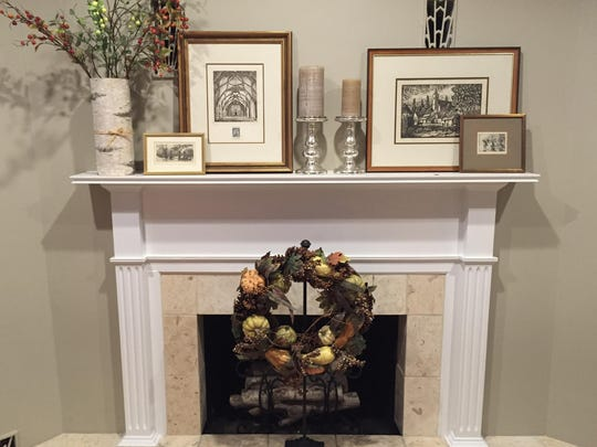 Without much need for a fireplace in Florida, faux logs are easy to DIY, and give a toasty illusion during the not-so-chilly season.
