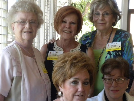 Seated, Barbara Moore, left, and Marianne Duncan; standing, from left, Wanda Keown, Janice Crumley and Carolyn Duke