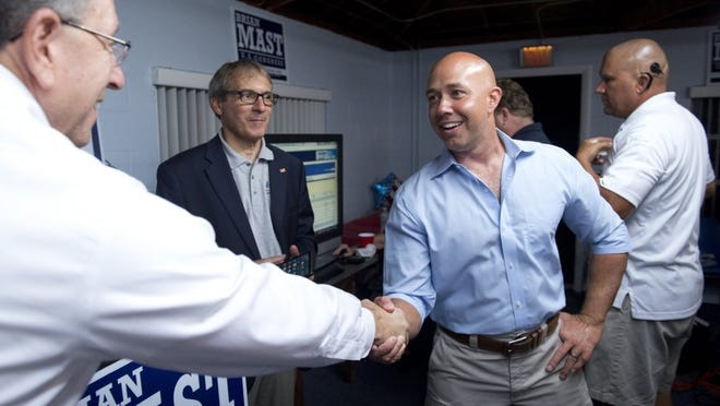 Images from Brian Mast's election party on Aug. 30, 2016, at the Palm City Civic Center in Palm City. Mast won the Florida Congressional District 18 Republican primary race, defeating Carl Domino, Mark Freeman, Rick Kozell, Noelle Nikpour and Rebecca Negron.