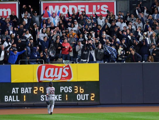 Frazier's home run carried just beyond the right field