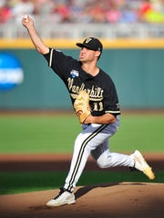 Vanderbilt starter Tyler Beede allowed six runs, all earned, on 10 hits with three walks and four strikeouts in 6.2 innings Tuesday.