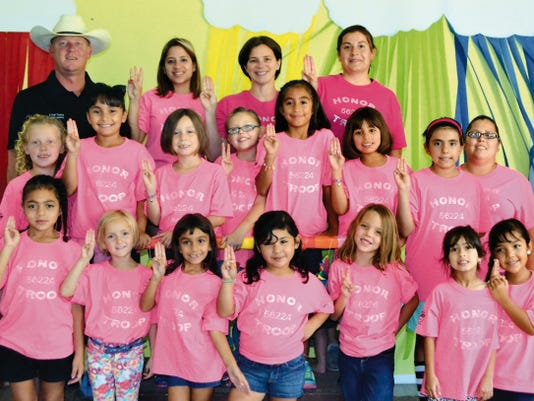 Courtesy Photo   Girl Scouts of the Desert Southwest, Troop 56224, earned the distinction of an Honor Troop by completing the necessary requirements, as handed down by the Girl Scouts of America.