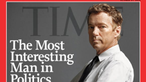 Kentucky Sen. Rand Paul on the cover of TIME magazine.