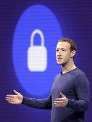 In this May 1, 2018, file photo, Facebook CEO Mark