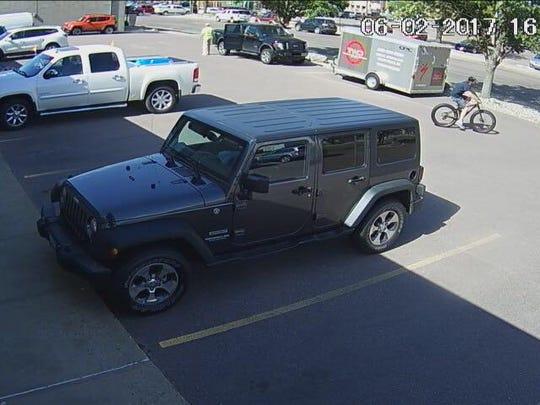 A screenshot from surveillance camera at Two Wheeler Dealer