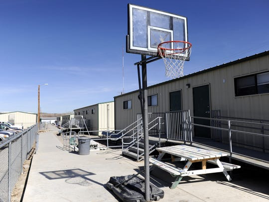 The Mosaic Academy charter school now occupies several portable trailers near Hartman Park in central Aztec.