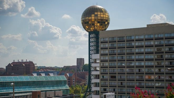 A view of the Sunsphere near downtown Knoxville on Sept. 14, 2016.
