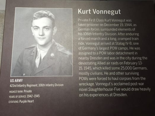 analysis of slaughterhouse five a novel by american writer kurt vonnegut A brief biography of kurt vonnegut by william rodney allen (kurt vonnegut  memorial  a city he would later use in his novels as a symbol of american  values  vonnegut would be influenced all his writing life by the simple rules of   mr rosewater and, in 1969, his dresden novel, slaughterhouse-five.