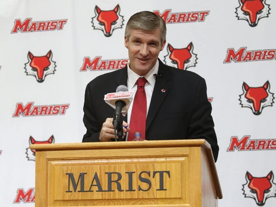 Marist men's basketball head coach, John Dunne speaks