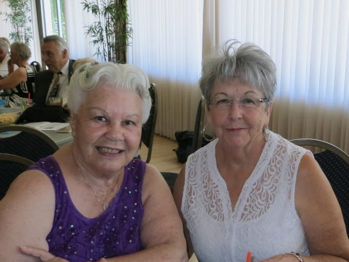 Jacque Jabs/Special to the Record Searchlight Barbara Wilson (left) and Pat Miles, both of Redding, attend the Rivercity Jazz Society concert and dance on Sept. 18 at the Redding Elks Lodge.