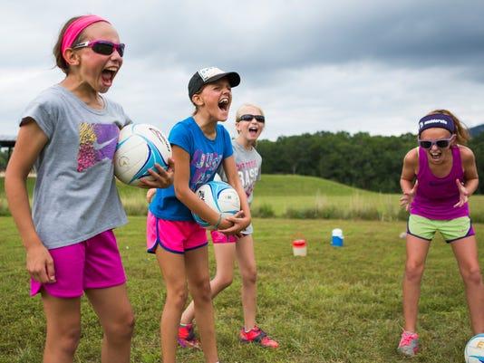 Lofton Lake volleyball camp