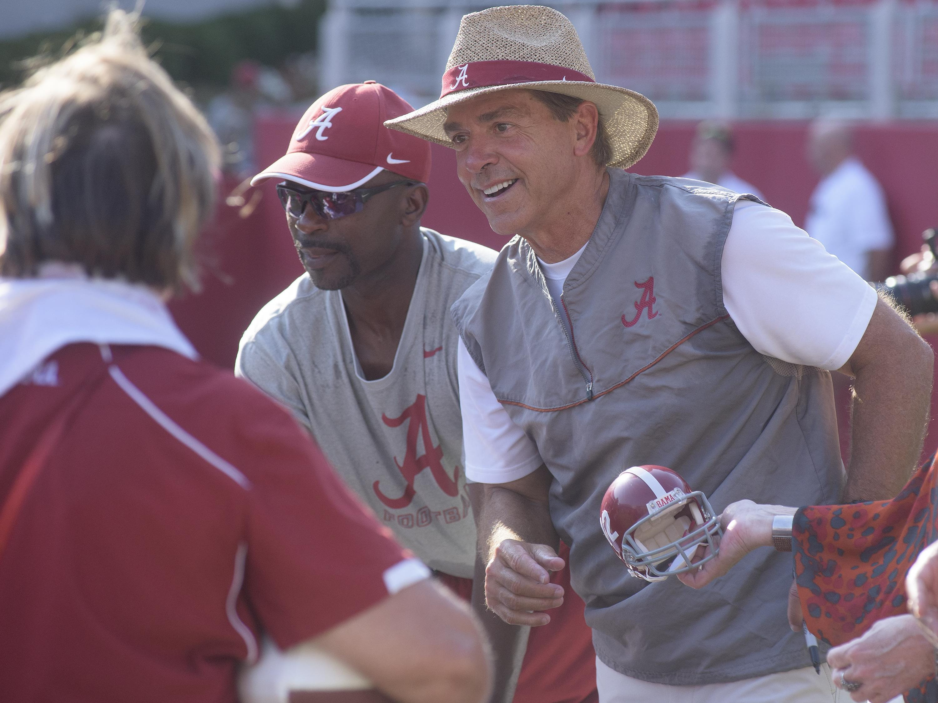 Head coach Nick Saban and the Alabama Crimson Tide face QB, secondary and place-kicker questions in addition to a difficult road schedule.
