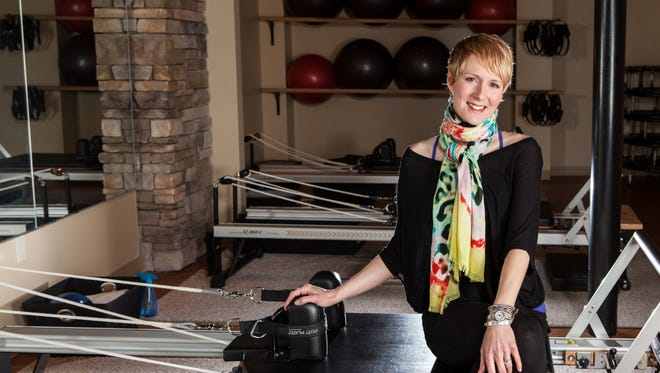 Tracy Janczak in her Pilates studio in Victor.