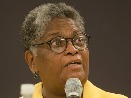 Buena Browder speaks during the Mayoral Forum on Thursday,