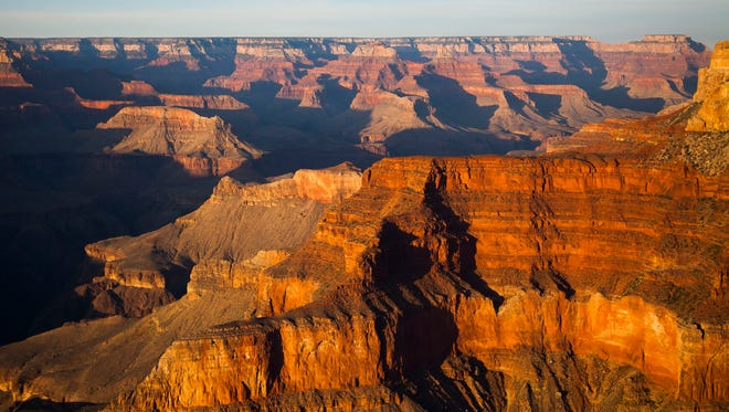 The view from Pima Point at the South Rim of the Grand Canyon is pictured on Tuesday, May 13, 2014 in Arizona.