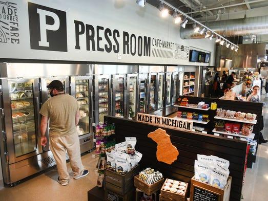 Press Room Cafe Detroit Menu