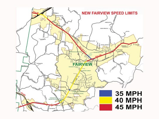 The City of Fairview has updated speed limits.