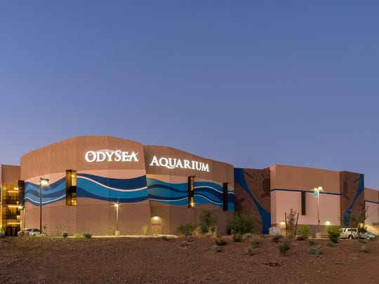 The front of the Inside the Odysea Aquarium.