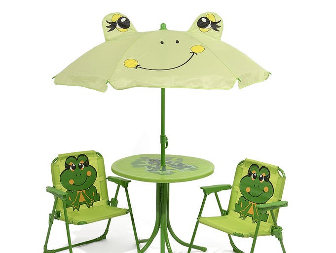Spring forward with outdoor essentials. Children's 4-piece green frog outdoor garden set by Kaemingk, $89.99 online only at sears.com. (Gannett/File)