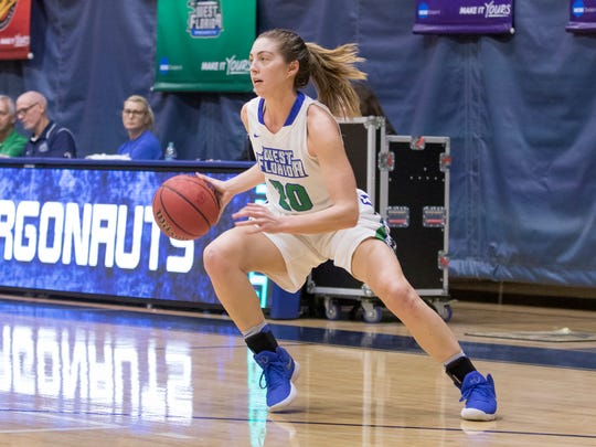 Belle Bistrow (20) drives to the basket during the