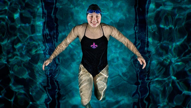 St. Clair High School junior Molly Likins is the Times Herald Swimmer of the Year.