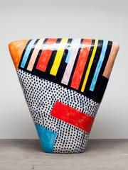 "A dango, or ""enclosed form,"" by clay sculptor Jun Kaneko."