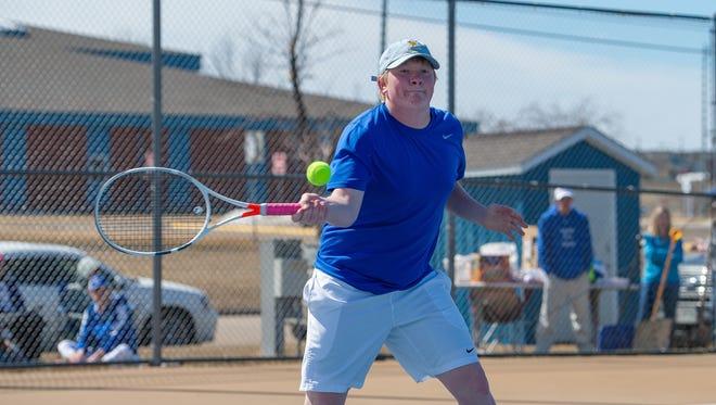Trey Murphy of the Havre boys' tennis team.