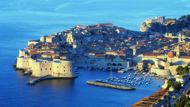 Dubrovnik, Croatia is a popular destination for cruise ships.