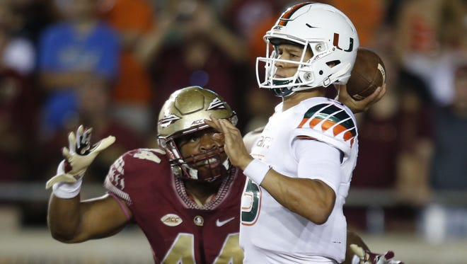 Brad Kaaya, one of the top quarterbacks in college football, returns to Miami in 2016.