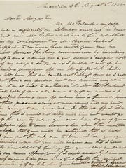 A letter by Gabriel Johnson, a man enslaved at Mount