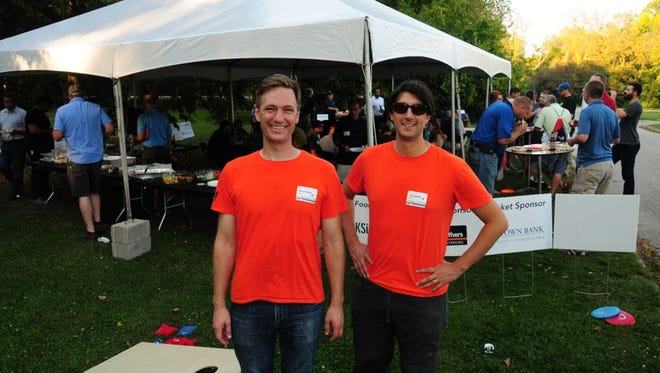 Nick Carnahan Joe Galbriath partners at Galbraith Carnahan Architects formed their friendship over the years through lunches and disc golf. On Sept. 20 the firm held the 4th annual Frolf event.