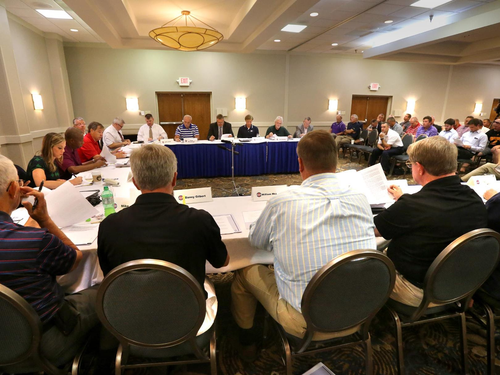 The TSSAA Legislative Council meets at the DoubleTree to vote on the private-public split Thursday, July 16, 2015.