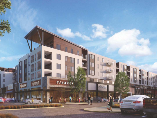 Rendering of a 255-unit mixed use building planned
